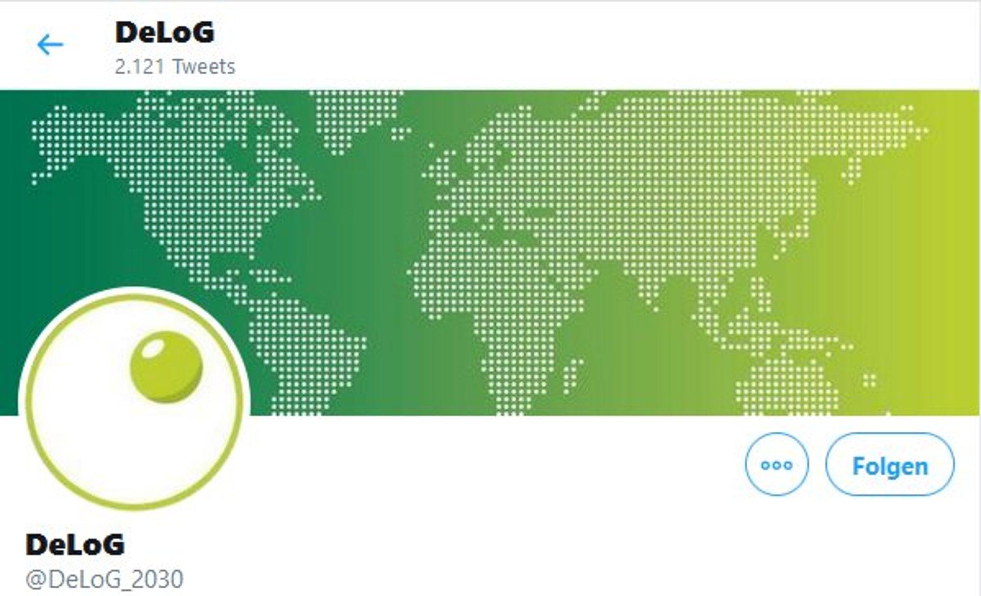 DeLog twitter account